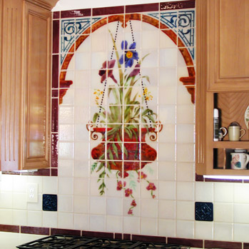 art in glass tile