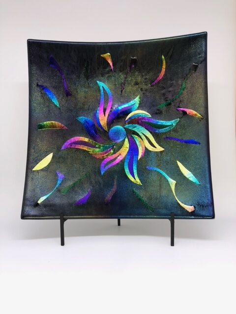 Fused Glass Pinwheel